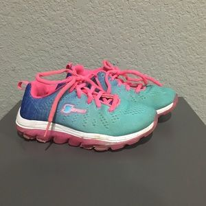 Blue and pink kids Skechers